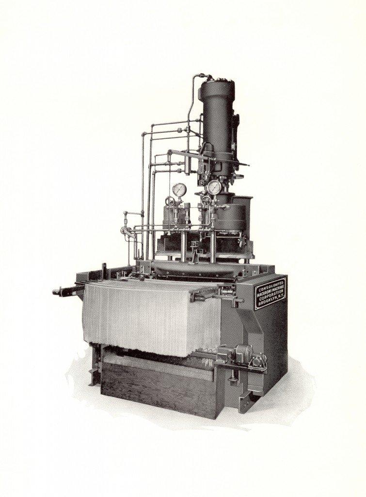 Prensa hidráulica (foto en blanco y negro)
